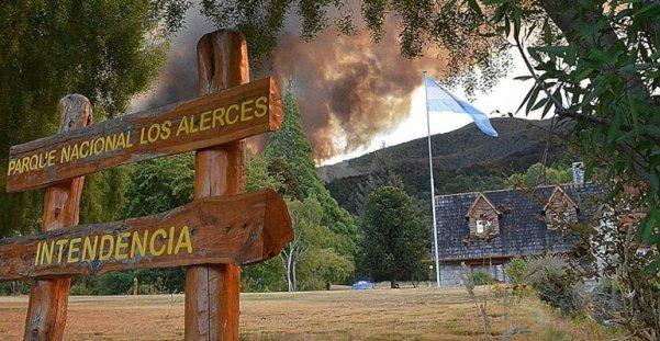 Incendio en el Parque Nacional Los Alerces