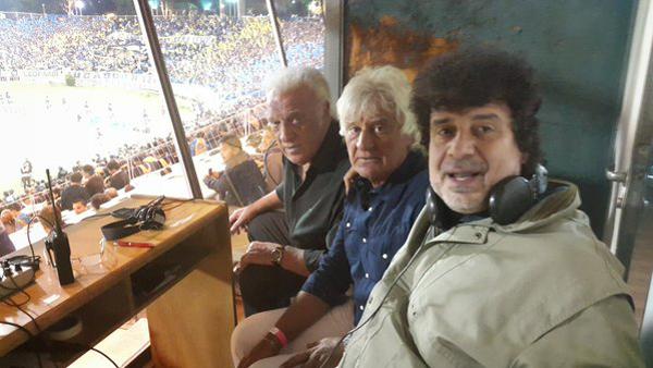 Coco Basile junto al Ruso Ribolzi y Daniel Mollo.